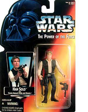 Power Of The Force Red Card Han Solo
