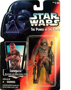 Star Wars Power Of The Force Chewbacca Red Card Action Figure